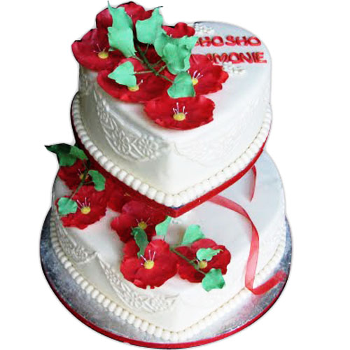 5kg Cake Images : Cakes To Deliver, Heart Shape Two Tier Cake - 5 Kg, India ...