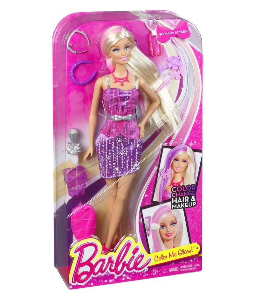 Kids Toys Barbie Long Hair With Color Style Beauty Doll