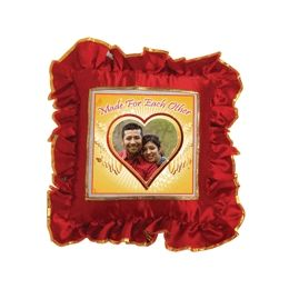Square shaped Red colour Pillow
