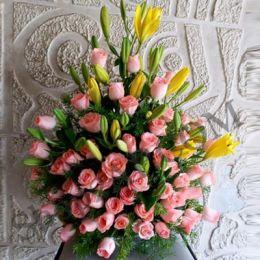 Pink Roses_Basket